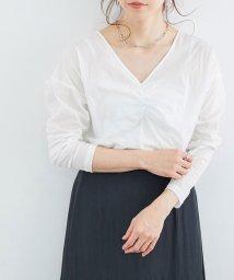 ROPE' mademoiselle/【テレワーク映え】【2WAY】フロントシャーリングカットソー/503108910