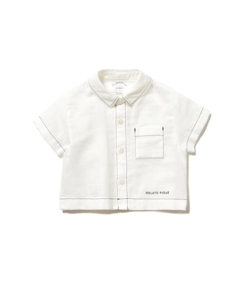 ジェラートピケ マリンガーゼ baby ボーイズシャツ キッズ OWHT 80 【gelato pique】
