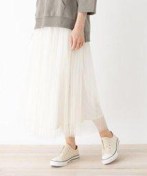 SHOO・LA・RUE Cutie Blonde/【M-L】チュールプリーツマキシスカート/503132732
