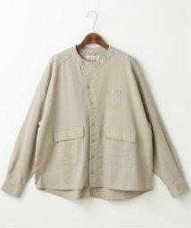 DOUBLE NAME/リネンワークシャツ/503132823