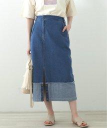 DOUBLE NAME/アシメデニムナロースカート/503132825