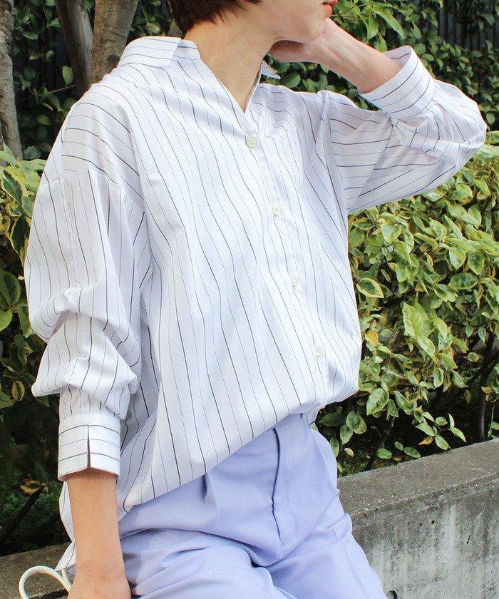 【60%OFF】 ビス クロワッサンスリーブ前開きシャツ レディース オフホワイト(15) M 【ViS】 【セール開催中】