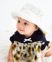 e-baby/フラワーモチーフ麦わらハット/503089313
