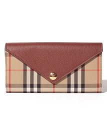 BURBERRY/【Burberry】Vintage Check & Leather Continental Wallet/503109078