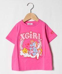 X-girl Stages/ユニコーンカラフルロゴプリントTシャツ/503109441