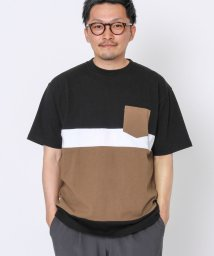 coen/USAコットン切り替えポケットTシャツ/503123445