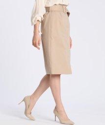 CLEAR IMPRESSION/ベルト付きタイトスカート/503134749