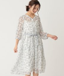 TO BE CHIC/【WEB限定】【Tricolore】ガーデンプリントワンピース/503077700