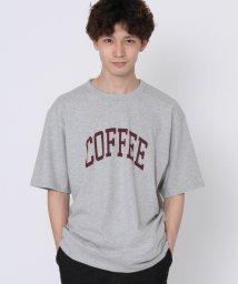 coen/スラブプリントTシャツ/503123444