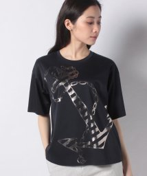 LAPINE BLEUE/【洗える】コットンスムース プリントTシャツ/503125006