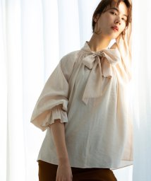 marjour/TIE GATHER BLOUSE/503135085