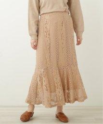 framesRayCassin/ストライプ花レース 裾切替えスカート/503135798