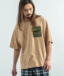 Rocky Monroe/kappa カッパ Tシャツ メンズ レディース ブランドロゴ 白 半袖 オーバーサイズ ビッグシルエット ゆったり リラックス ルーズ ポケット クルーネック/503136806