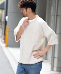 URBAN RESEARCH Sonny Label/インレイ五分袖裏毛プルオーバー/503136849