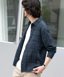 URBAN RESEARCH Sonny Label/フェードチェックメッシュシャツ/503136850