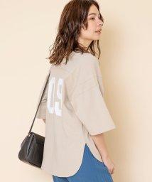 coen/【WEB限定カラー】USAコットンナンバーTシャツ(プリントTシャツ/バックデザイントップス/フットボールTシャツ)#/502957954