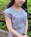 Noela/【セットアップ対応商品】カシュクールレースブラウス /503088514