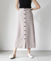 UNRELISH/ボタンナロースカート/503120138