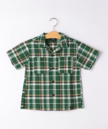 green label relaxing (Kids)/マドラスチェックシャツ ショートスリーブ/503121727