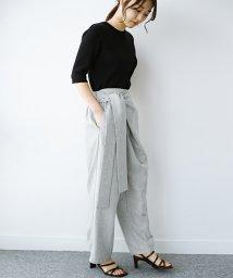haco!/パンツ派だけどきれいでいたい!を叶えてくれる 麻風素材のラップデザインパンツ/503135262
