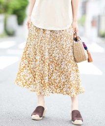 a.v.v/【洗える】花柄プリントプリーツスカート/503013141