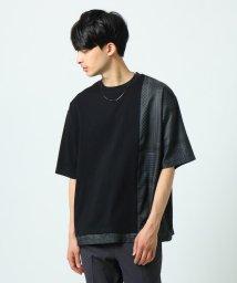 tk.TAKEO KIKUCHI/アフガン柄レイヤービッグTシャツ/503064866