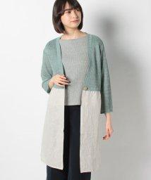 Leilian/異素材切り替えカ-ディガン/503106566