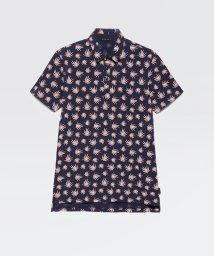 SISLEY/総柄プリントポロ襟半袖Tシャツ・カットソー/503121770