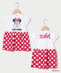 X-girl Stages/【Disney】ミニーマウスデザイン ドッキングワンピース/503123825