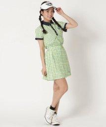 Samantha Thavasa UNDER25&NO.7/水彩ギンガムサイドプリーツスカート/503134679
