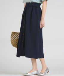 socolla/【socolla】麻調合繊前ボタンラインスカート/503137407