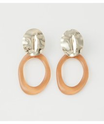 AZUL by moussy/CLEAR ROUND EARRINGS/503140028
