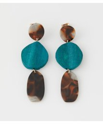 AZUL by moussy/WAVE WOOD MARBLE EARRINGS/503140029