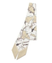 grove/アンティーク調ベルト柄ツイリースカーフ/503141924
