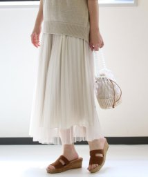 le.coeur blanc/チュールプリーツスカート/503046521