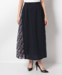Leilian/異素材切り替えマキシスカート/503106543