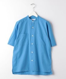 green label relaxing/SC タイプライター ボックス バンドカラー 半袖 シャツ/503121658