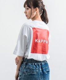 Rocky Monroe/Kappa カッパ Tシャツ メンズ レディース ブランドロゴ 白 半袖 バックプリント ビッグシルエット ゆったり リラックス ルーズ クルーネック カジュア/503144574