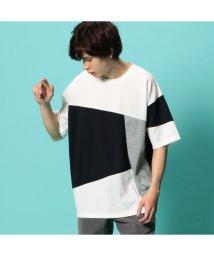 UNION STATION/【伸縮性と肌触りが特徴】パネル切り替えポンチTシャツ/503144846
