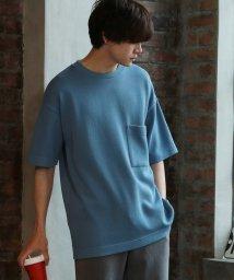 UNION STATION/【柔らかな着心地】ニットライククルーネックセミビッグTシャツ/503144860