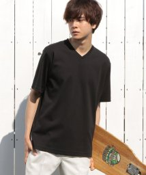 UNION STATION/コンパクトヤーンスムースVネックTシャツ/503144862