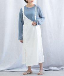 ANDJ/カツラギワンショルダージャンパースカート/503145153