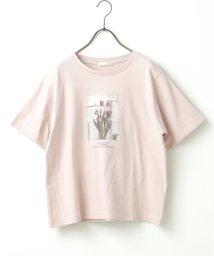Ray Cassin /チューリップINK英字Tシャツ/503145720