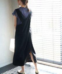 ROPE' PICNIC/麻レーヨンバッククロスジャンパースカート/503146710