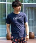 Nylaus/クルーネック サーフ ロゴプリント 半袖 Tシャツ/503147055