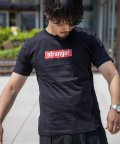 Nylaus/クルーネック ボックスロゴプリント 半袖 Tシャツ/503147056