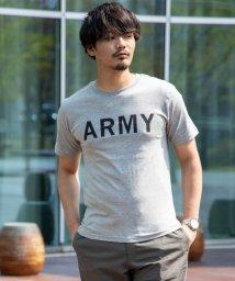 Nylaus/クルーネック ARMY アーミー ロゴプリント 半袖 Tシャツ/503147057