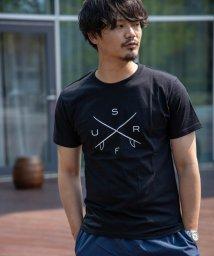 Nylaus/クルーネック サーフロゴプリント 半袖 Tシャツ/503147061