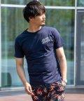 Nylaus/クルーネック レトロサーフ ロゴプリント バックプリント 半袖 Tシャツ/503147067