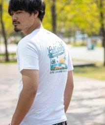 Nylaus/クルーネック レトロサーフ ロゴプリント バックプリント 半袖 Tシャツ/503147068